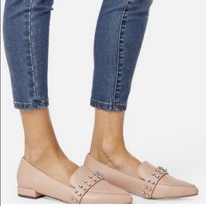 🌟 NEW! JustFab Neve Blush Diamond Studded Loafer